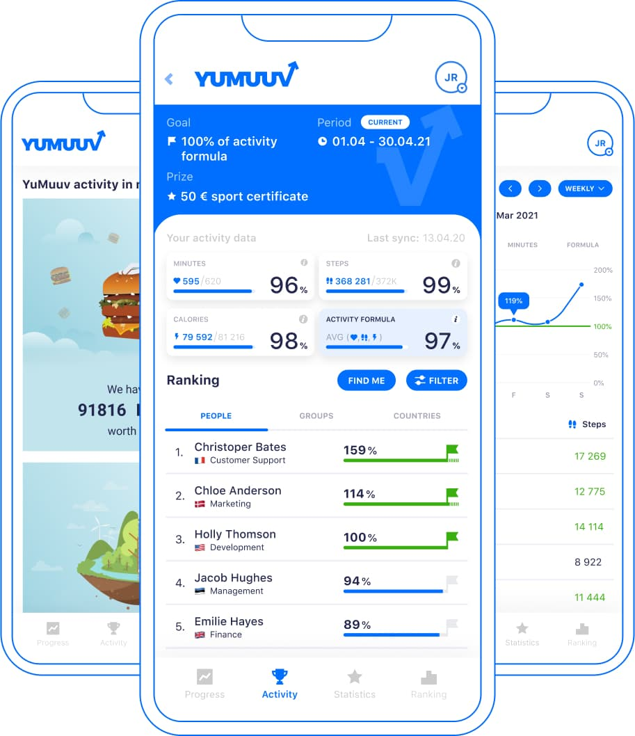 YuMuuv app screenshots